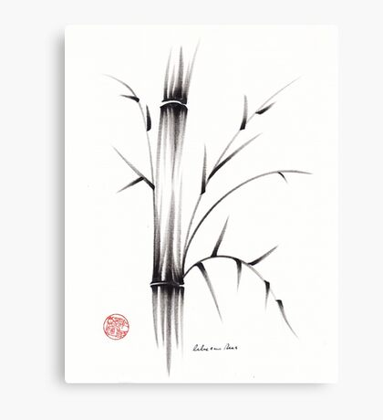 'Simplicity' paper & brush ink pen hand drawing Canvas Print