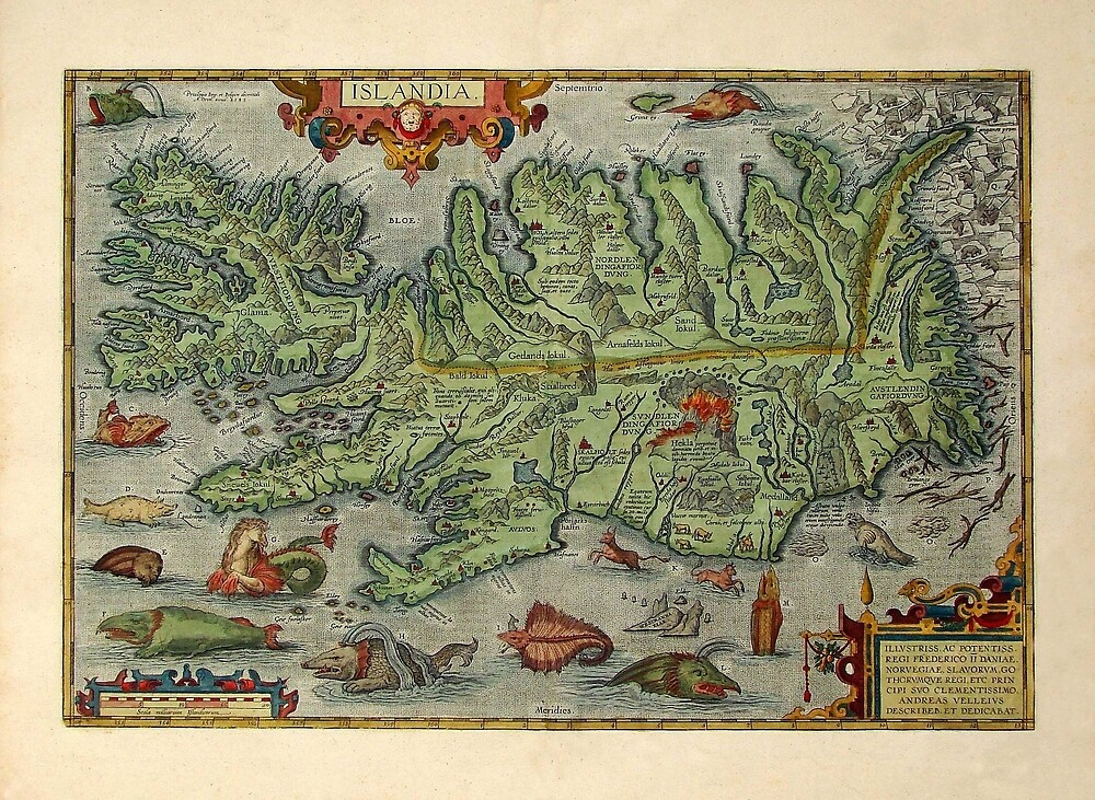 Map Of Iceland 1612 by mollyfare
