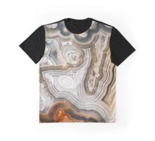 Abstract Agate Pattern Graphic T-Shirt