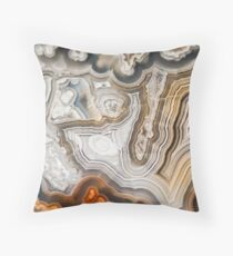 Abstract Agate Pattern Throw Pillow