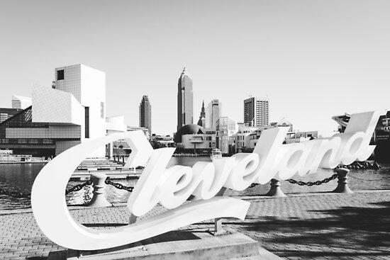 CLEVELAND Ohio Skyline by HoellerPhoto