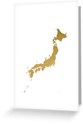Gold japan map by AnnaGo