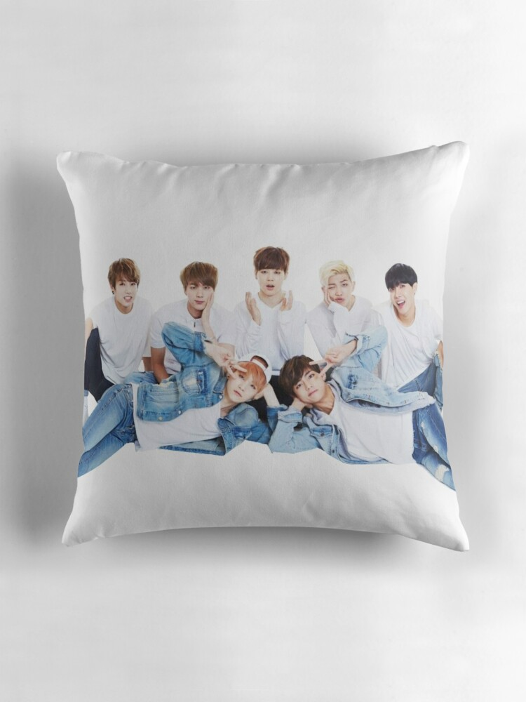 Quot Bts Quot Throw Pillows By Yumi108 Redbubble