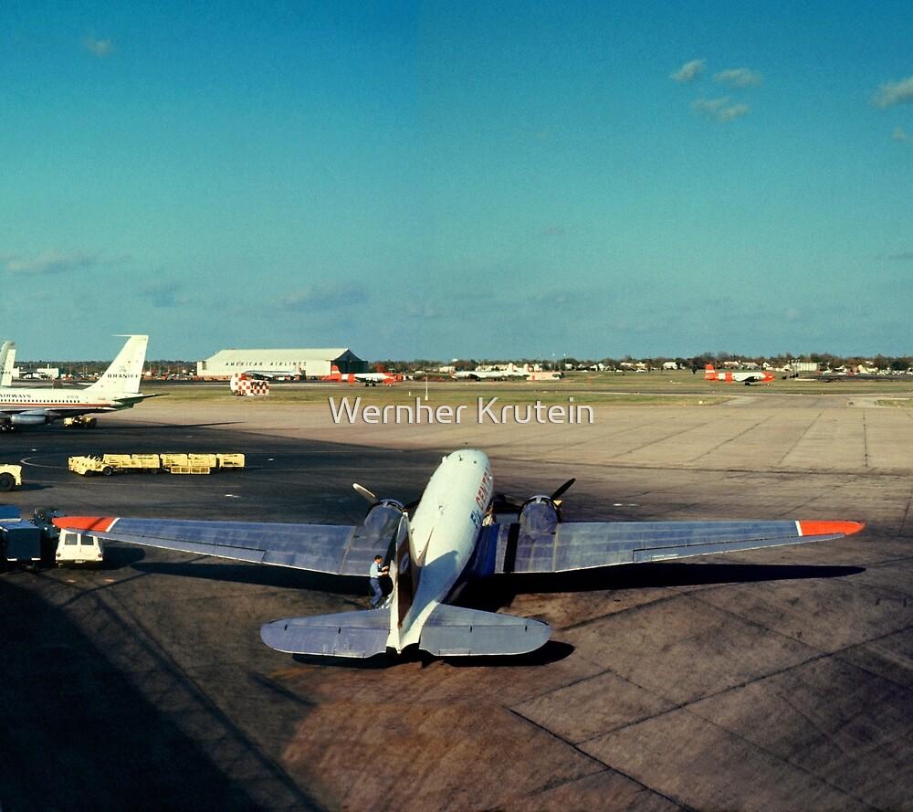 DC-3 at Love Field Dallas 1962 by Wernher Krutein