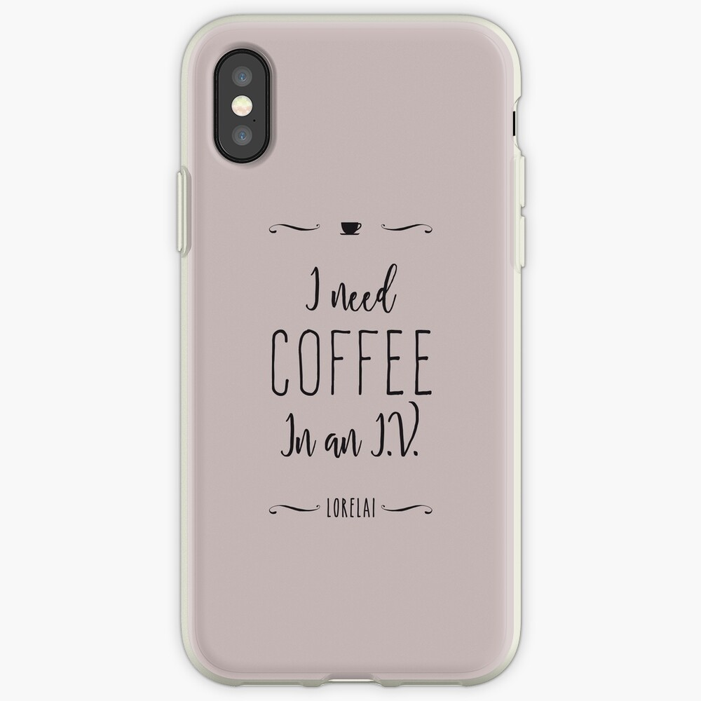 I need coffee in an I.V. iPhone Case & Cover