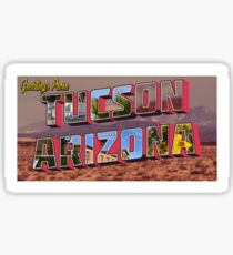 Tucson Arizona Postcard Sticker