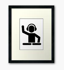 DJ Turntables Framed Print
