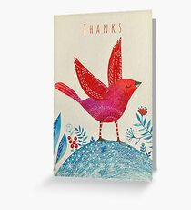 Uplifted - Thanks Greeting Card