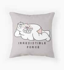 Irresistible Force Throw Pillow