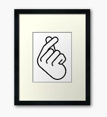 Korean Finger Heart Ver. 2 Framed Print