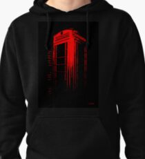 Telephone Booth Red Ink Pullover Hoodie