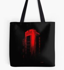 Telephone Booth Red Ink Tote Bag