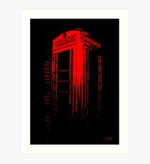 Telephone Booth Red Ink Art Print