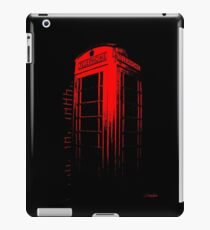 Telephone Booth Red Ink iPad Case/Skin