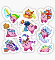 Kirby Abilities Sticker Sheet Sticker