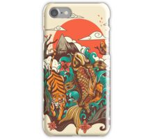 autumn sunset iPhone Case/Skin