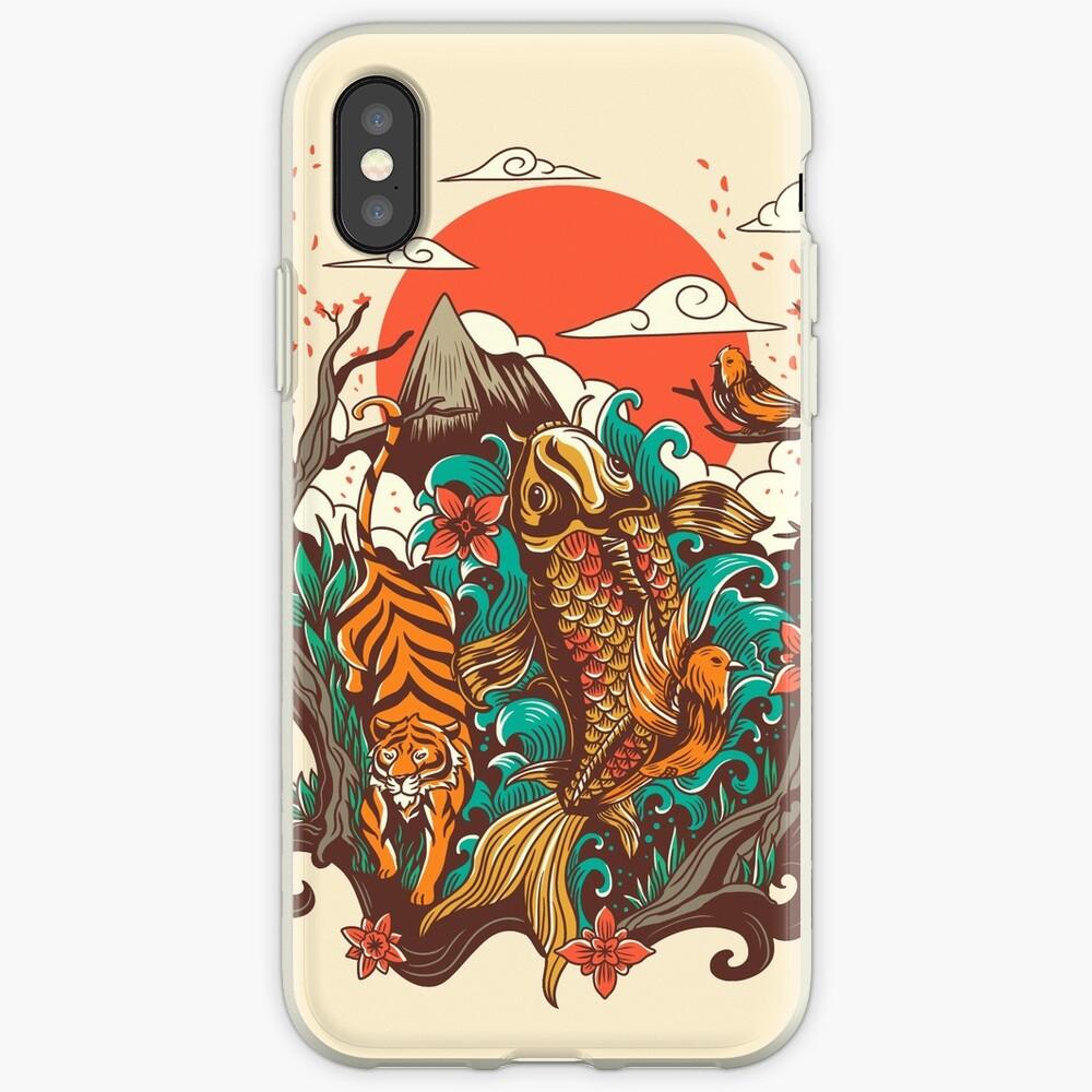 Herbst Sonnenuntergang iPhone-Hüllen & Cover