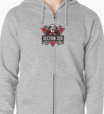 Section328 Mega-Logo Zipped Hoodie