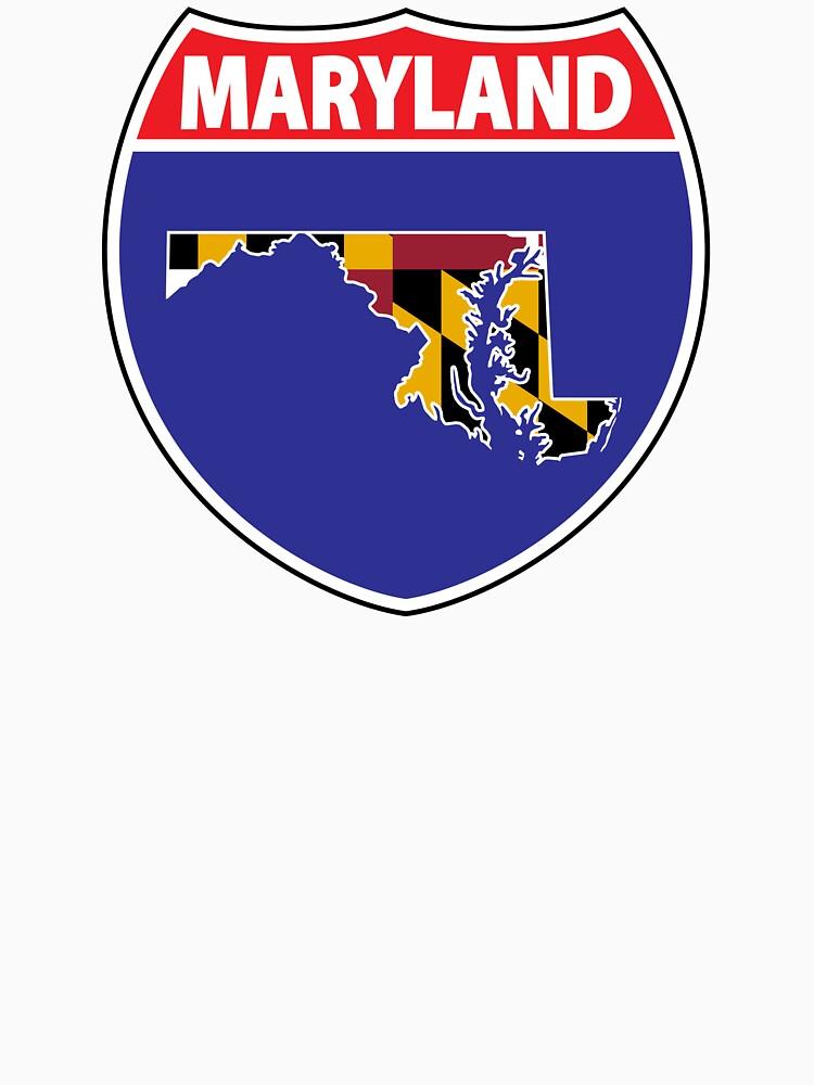 Maryland flag USA highway seal sign by mamatgaye