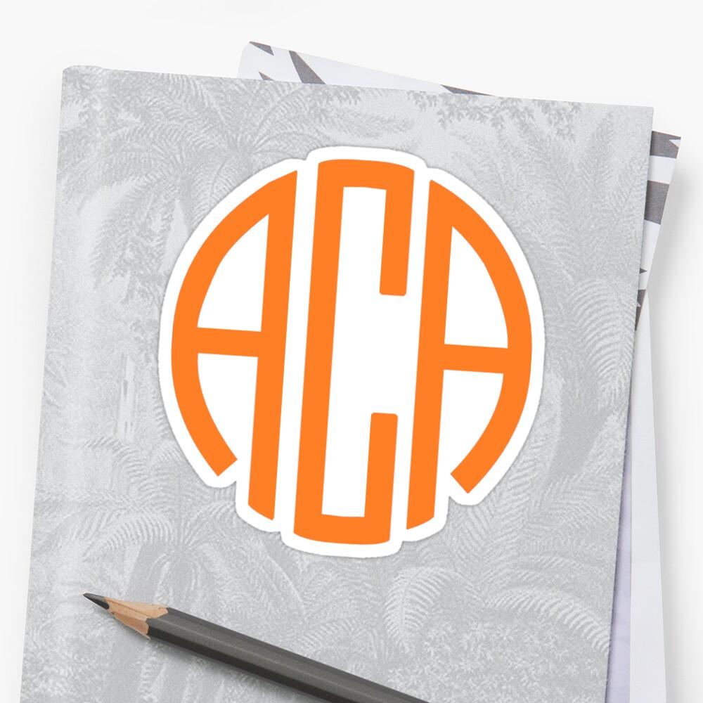 ACA Monogram - Orange by Morgan Turrentine
