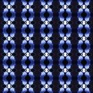snowflakes in blue 3 pattern by Dawna Morton