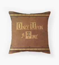 Once Upon A Time - Fitted Book Cover Throw Pillow