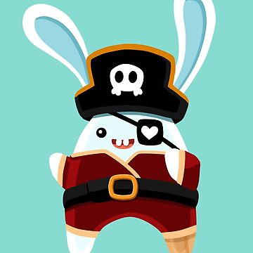 Cartoon Pirate Bunny by manabunny