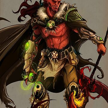 DND Tiefling Sorcerer Comission by SpareInkStudios