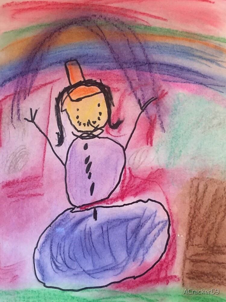 Hailey's Rainbow Snowman by ACracker69
