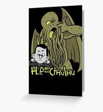 H.P. and Cthulhu Grußkarte
