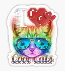 I <3 Cool Cats Sticker