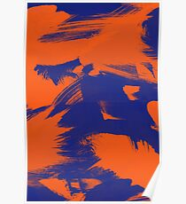 Brush Strokes (Complementary Colors) Poster