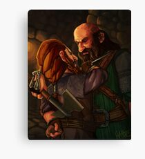 Axes and Knives Canvas Print