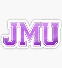 JMU Old School Letters Sticker