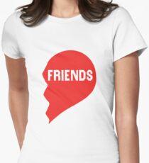 Best Friends Heart 2/2 Women's Fitted T-Shirt