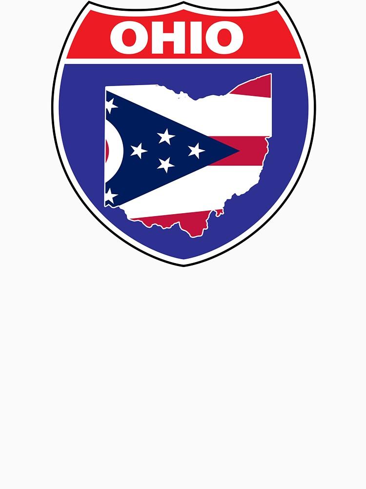 Ohio flag USA highway seal sign by mamatgaye