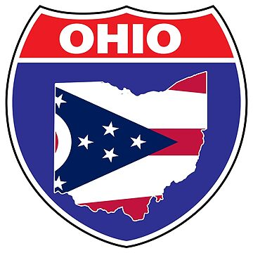 Ohio flag USA highway seal sign by mamatgaye