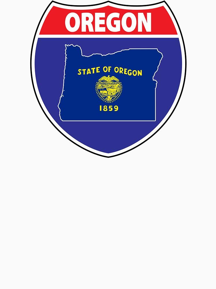 Oregon flag USA highway seal sign by mamatgaye