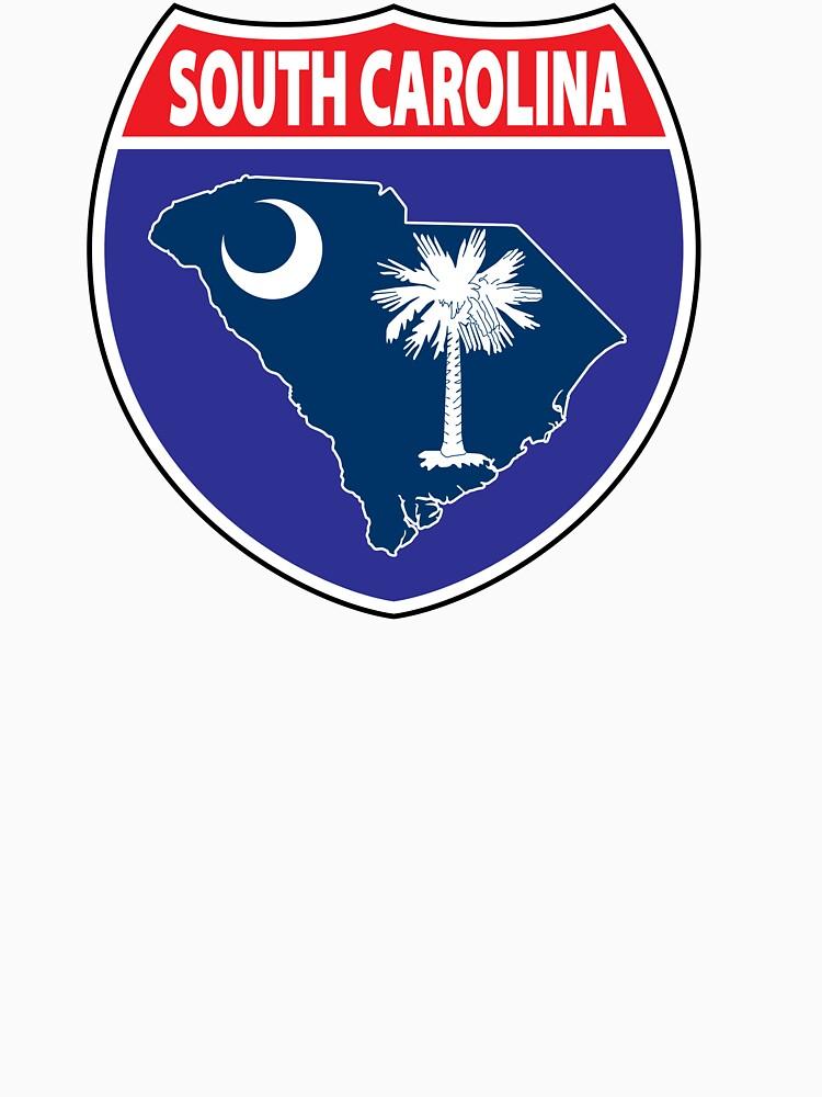 South Carolina flag USA highway seal sign by mamatgaye