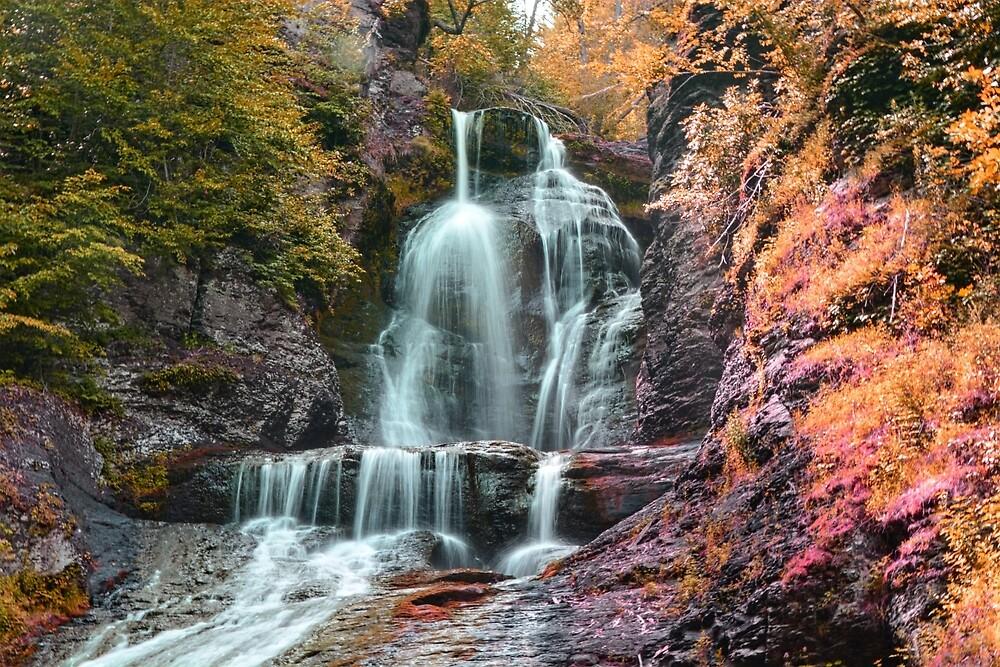 Orange Falls by Gabriellalucia