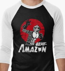 Amazon  Men's Baseball ¾ T-Shirt