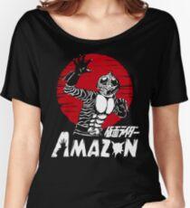 Japan Monster Tokusatsu Retro Masked Kamen Rider Amazon  Women's Relaxed Fit T-Shirt