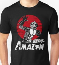 Japan Monster Tokusatsu Retro Masked Kamen Rider Amazon  T-Shirt