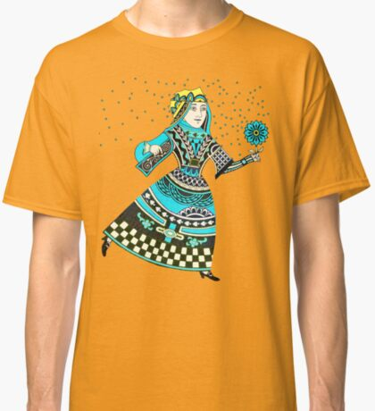Queen Running with Magic Flower Classic T-Shirt