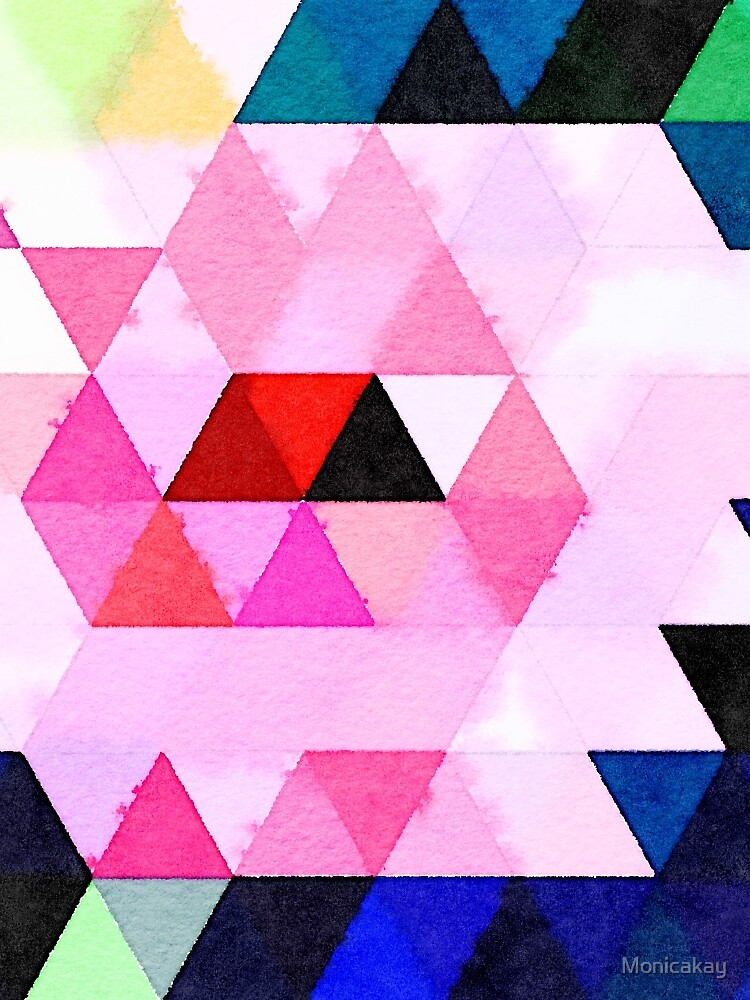 Abstract #149 Watercolored Triangles by Monicakay