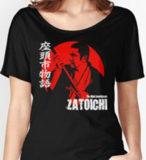 Shintaro Katsu Japan Retro Classic Samurai Movie Zatoichi The Blind Swordsman  Women's Relaxed Fit T-Shirt
