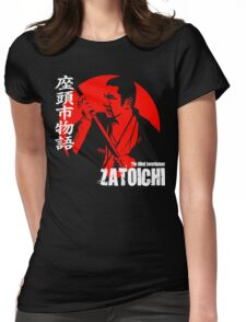 Shintaro Katsu Japan Retro Classic Samurai Movie Zatoichi The Blind Swordsman  Womens Fitted T-Shirt