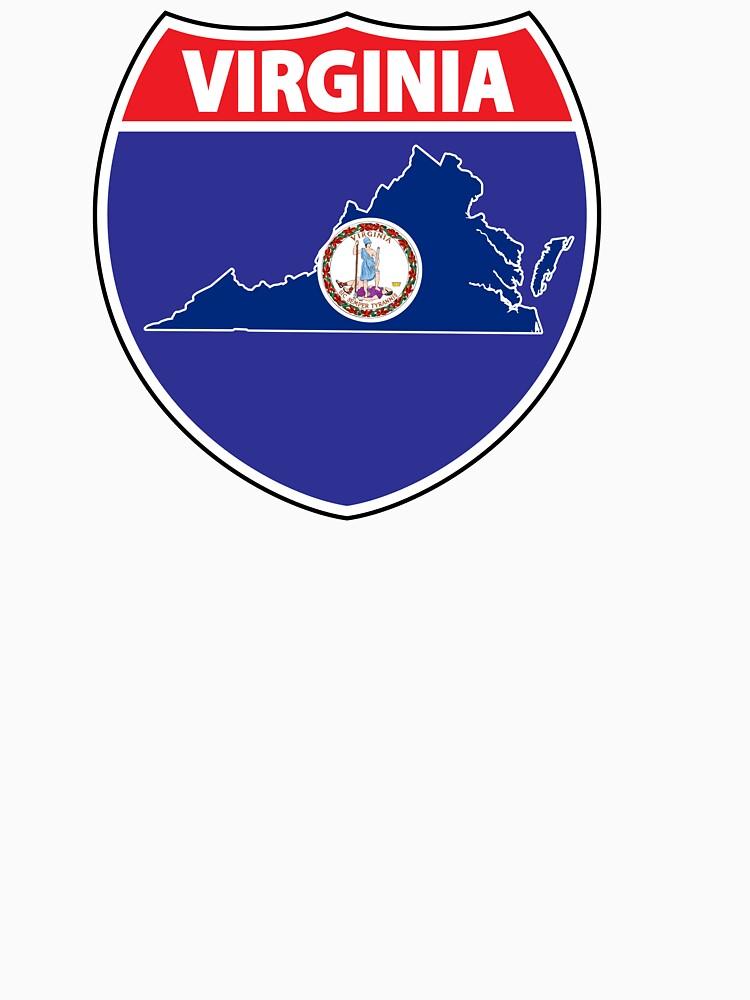Virginia flag USA highway seal sign by mamatgaye