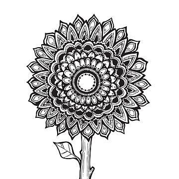 Sunflower Mandala by aterkaderk