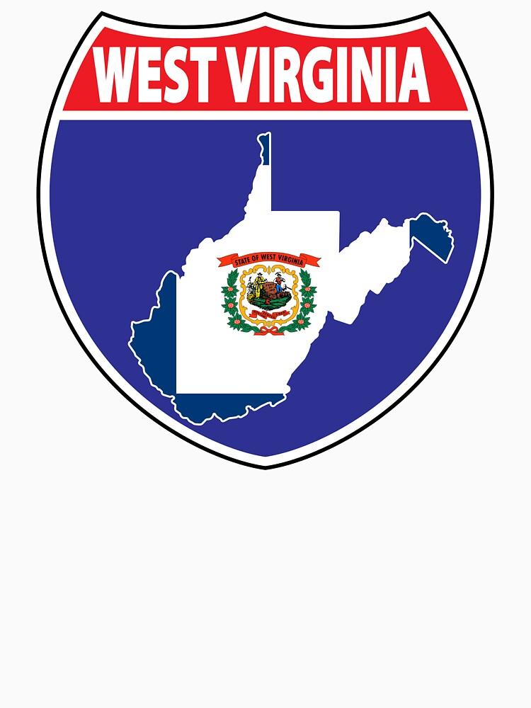 West Virginia flag USA highway seal sign by mamatgaye